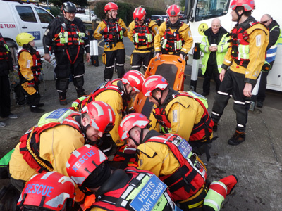 """A well-trained team is a good efficient team in rescue situations"""