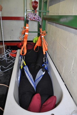 "Outreach Rescue praise water-fillable suit as ""…a game changer for bariatric training."""