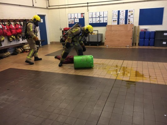 Inspired Hazmat Training from British Fire Station