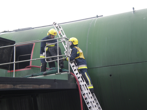 Training Manikins face the heat at the International Fire Training Centre (IFTC)