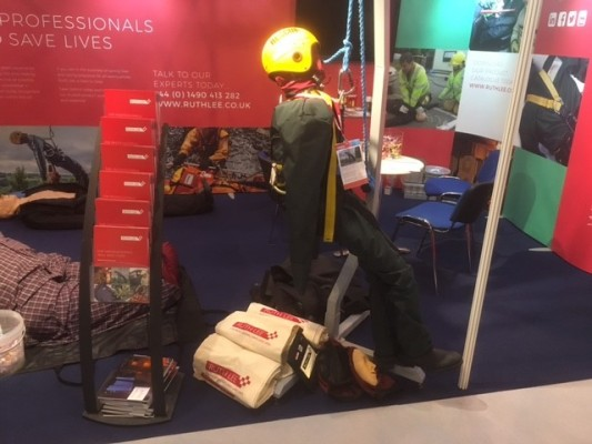 Ruth Lee present new products at the Emergency Services show