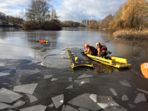 Icy Training Challenge for Evesham Firefighters