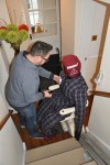 Patient Handling Manikin in a chair lift