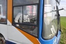 A multi-trauma manikin used in a rescue from a bus.