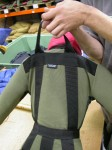 Heavy Duty Polypropylene lifting loop, sewn down the back and into the waistband for strength