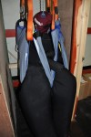 Filled Suit - Bariatric lifted from a confined space (toilet cubicle)