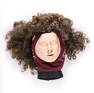 Realistic Face Mask with Wig for Adult Training Manikins