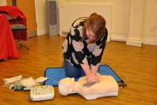 Learning CPR as part of the Ruth Lee social commitment project