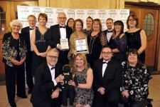 Celebrating winning Welsh Exporter of the Year at the Daily Post Business Awards in 2018